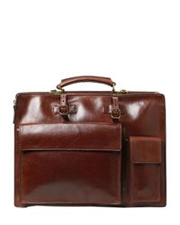 The Bridge | Brown Hand-painted Leather Briefcase for Men | Lyst