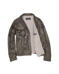 FORZIERI | Men's Dark Brown Genuine Leather Motorcycle Jacket for Men | Lyst