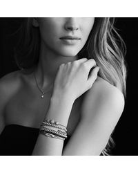 David Yurman - Petite Pavé Id Bracelet With Black Diamonds - Lyst