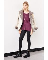 Silence + Noise - Purple Asher Belted Top - Lyst