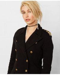 Denim & Supply Ralph Lauren | Black Double-Breasted Military Coat | Lyst