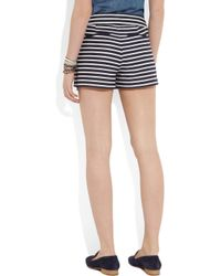 J.Crew - Blue Striped Linen and Cottonblend Shorts - Lyst