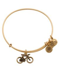 ALEX AND ANI | Metallic Bike Expandable Wire Bangle, Charity By Design Collection | Lyst