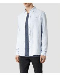 AllSaints - Blue Reaper Shirt for Men - Lyst