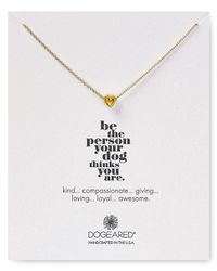 "Dogeared - Metallic Heart Nugget Casual Philosophy Necklace, 18"" - Lyst"