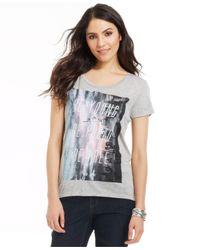 DKNY - Gray Short-Sleeve Graphic Tee - Lyst
