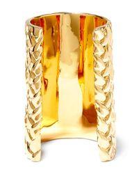 Jennifer Fisher - Metallic Xl Braid Gold-plated Cuff - Lyst