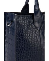 HUGO | Blue 'valerie-c' | Leather Shopper With Detachable Strap | Lyst