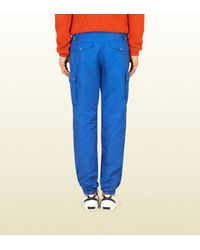 Gucci - Blue Techno Cotton Cargo Pant for Men - Lyst