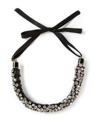 Isabel Marant | Black Embellished Necklace | Lyst