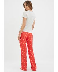 877e6764f52 Forever 21. Women s Red Snowflake Trousers Pj Set You ve Been Added To ...