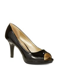 Bandolino | Black Supermodel Peep Toe Pumps | Lyst