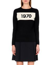 Bella Freud   Black 1970 Wool Jumper   Lyst