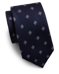 Saks Fifth Avenue | Blue Floating Floral Silk Tie for Men | Lyst