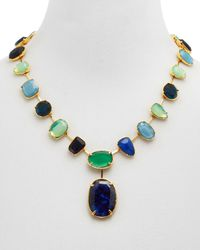 Ralph Lauren | Green Lauren Stone Collar Necklace, 20"
