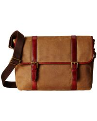 Fossil | Natural Estate E/w Messenger Bag for Men | Lyst