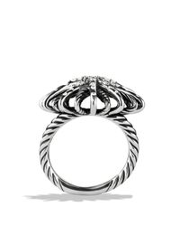 David Yurman - Metallic Starburst Ring With Diamonds - Lyst