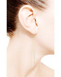 Janis Savitt | Metallic Thread Earrings | Lyst