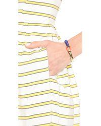 Shashi - Metallic Riley Cuff Bracelet Cobaltgold - Lyst
