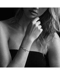 David Yurman - Metallic Cable Collectibles Pavé Lock & Key Charm Bracelet With Diamonds In 18k Gold - Lyst