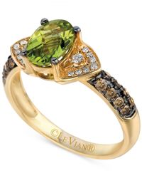 Le Vian | Metallic Chocolatier Peridot (1 Ct. T.w.) And Diamond (1/4 Ct. T.w.) Ring In 14k Gold | Lyst