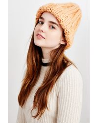 Urban Outfitters - Orange Jessica Rib Beanie - Lyst