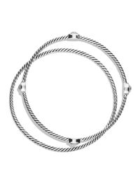 David Yurman | Black Color Classics Bangles With Crystal | Lyst
