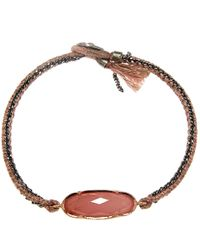 Brooke Gregson - Red Guava Quartz Icicle Silk Bracelet - Lyst