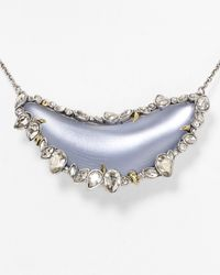 Alexis Bittar | Blue Jagged Edge Crystal Framed Large Lucite Crescent Pendant Necklace 15 | Lyst