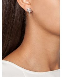 Eddie Borgo | Metallic Pavé Bud Stud Earrings | Lyst