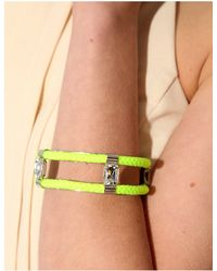 Pixie Market - Yellow Neon Lime Diamond Bangle - Lyst