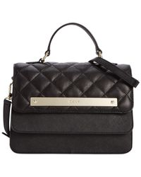DKNY | Black Gansevoort Quilted Flap Top Handle | Lyst