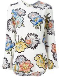 Sportmax - Multicolor Floral Print Blouse - Lyst