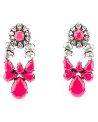 Shourouk - Pink Mia Earrings - Lyst