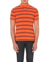 Ralph Lauren | Orange Striped Polo Shirt for Men | Lyst