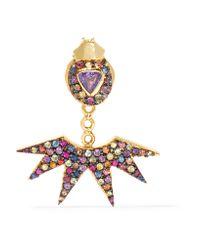 Daniela Villegas - Metallic Pow Wow 18-karat Gold Sapphire Earring - Lyst