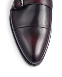 Prada - Black Double Monk Cap Toe Loafers for Men - Lyst