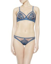 La Perla | Blue Brazilian Briefs | Lyst
