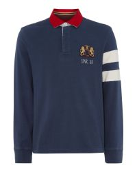 Howick - Blue Freemont Rugby Top for Men - Lyst