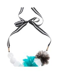 Trina Turk - Blue Pvc Flower Necklace - Lyst