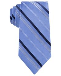 Michael Kors | Blue Michael Vitality Stripe Tie for Men | Lyst