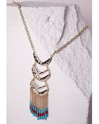 Missguided | Multicolor Beaded Tier Necklace Multi | Lyst