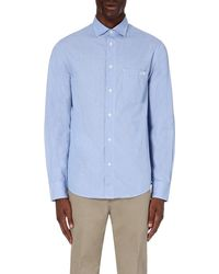 Armani Jeans | Blue Striped Regular-fit Cotton Shirt for Men | Lyst