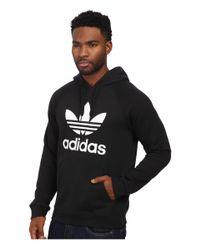 Adidas Originals | Black Originals Trefoil Hoodie for Men | Lyst
