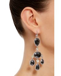 Nina Runsdorf - Metallic One Of A Kind Black Diamond Chandelier Earrings - Lyst