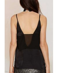 Nasty Gal | Black Deeper And Deeper Sheer Tank | Lyst