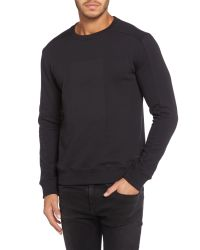 Calvin Klein | Black Jaylon Crew Neck Long Sleeve Sweater for Men | Lyst
