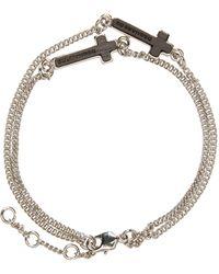 DSquared² - Metallic Silver Cross Bracelet - Lyst