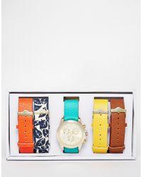 ALDO - Blue Ldo Zassi Multi Strap Watch - Lyst