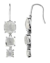 Lord & Taylor | Metallic Sterling Silver Drop Earrings With White Quartz And White Topaz | Lyst